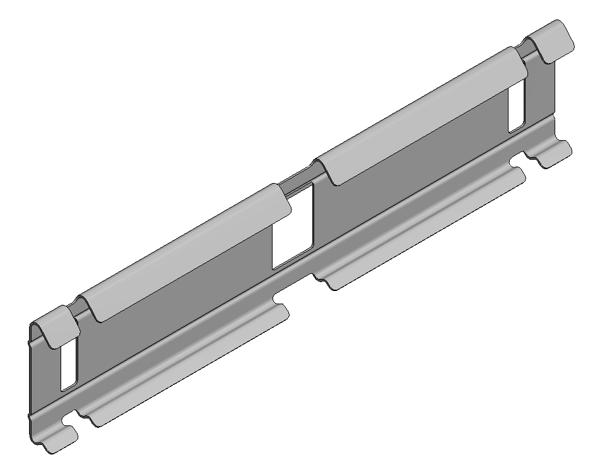 Afbeeldingen van Verz koppelplaat draadgoot h=60 clip-on