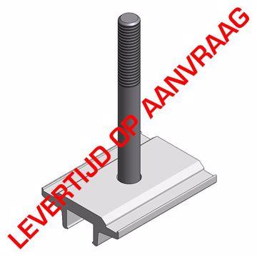 Afbeeldingen van Alu contraplaat met rvs bout M8x75mm voor elevated systeem