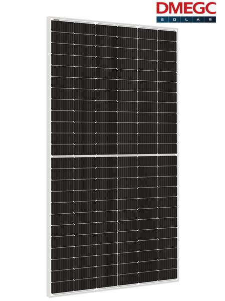 Bild von DMEGC 445 Mono half cel zilver frame witte backsheet
