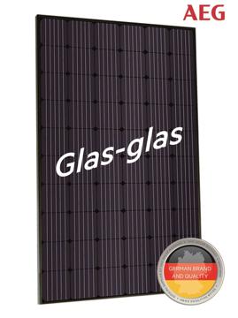 Afbeeldingen van AEG AS-M1202G GLAS-GLAS 330W Mono Zwart Frame