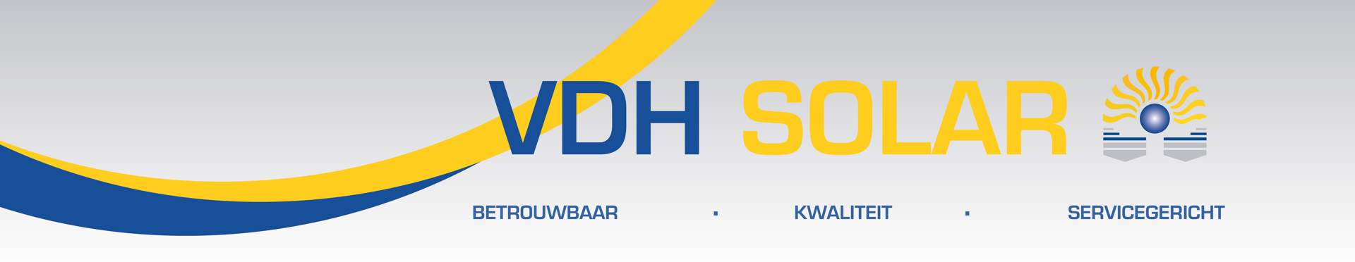 VDH Solar website banner